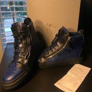 ffac40ac59a8a Giuseppe Zanotti Shoes - Men's giuseppe zanotti London crocodile sneaker